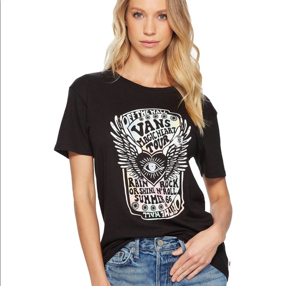 670d374471 Vans of the Wall Magic Heart Tour Black Graphic T